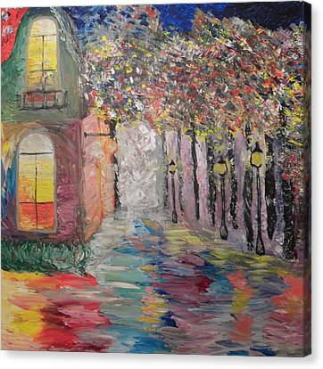 Old Bucharest Canvas Print by Carmen Kolcsar