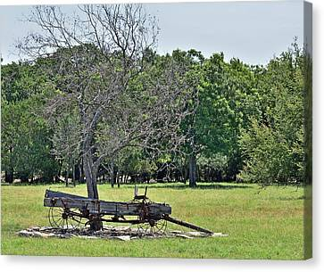 Transportion Canvas Print - Old Buckboard by Robert Brown