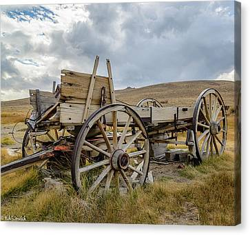 Old Buckboard Wagon Canvas Print by Mike Ronnebeck