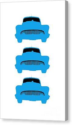 Old Buicks Blue Times Three Canvas Print