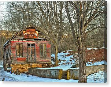 Old Building Canvas Print by Todd Hostetter