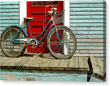 Old Bicycle. Warren, Vermont Canvas Print by George Robinson