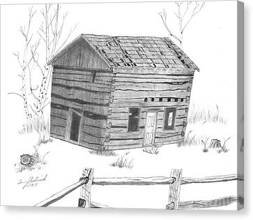 Old Cabins Canvas Print - Old Cabin by Terry Frederick