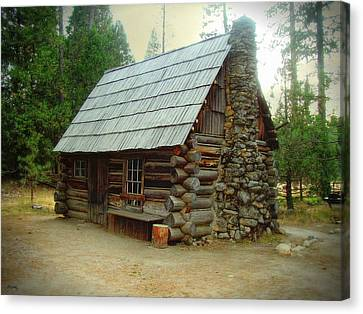Old Cabin - Yosemite Merced California Canvas Print