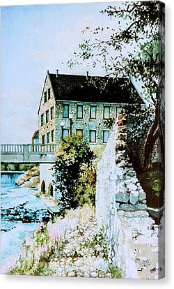 Old Cambridge Mill Canvas Print by Hanne Lore Koehler