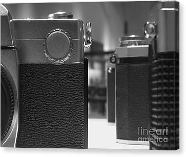 Old Camera Line-up Canvas Print by Yali Shi