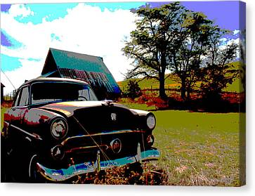 Old Car Canvas Print by Jean Evans