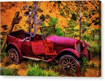 Old Car Rusting Away Canvas Print