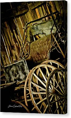 Canvas Print featuring the photograph Old Carriage by Joann Copeland-Paul