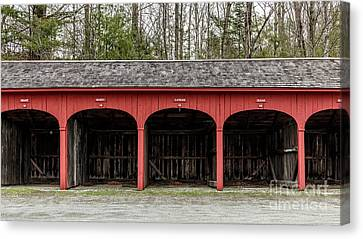 Old Carriage Shed Lyme New Hampshire Canvas Print by Edward Fielding