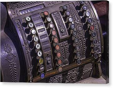 Old Cash Register Canvas Print by Garry Gay