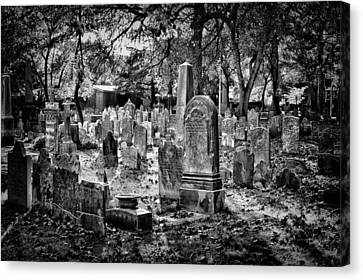 Old Cemetery In Philadelphia 1 Canvas Print by Val Black Russian Tourchin