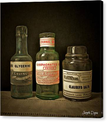 Medicine Canvas Print - Old Chemist by Leonardo Digenio