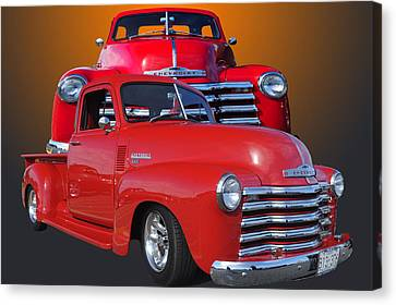 Old Chev Canvas Print by Jim  Hatch