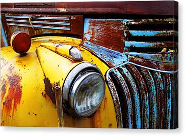 Old Chev Truck On Hwy 69 Canvas Print