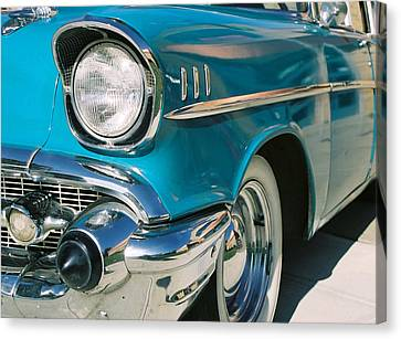 Canvas Print featuring the photograph Old Chevy by Steve Karol