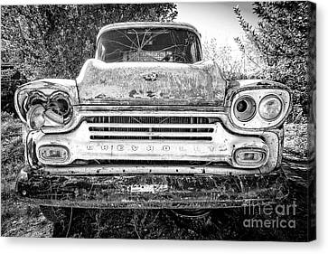 Junk Canvas Print - Old Chevy Truck by Edward Fielding