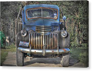 Canvas Print featuring the photograph Old Chevy Truck by Savannah Gibbs
