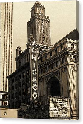 Old Chicago Theater - Vintage Art Canvas Print