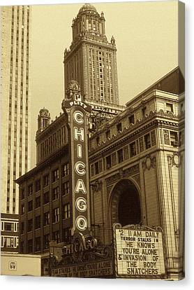 Old Chicago Theater - Vintage Photo Art Print Canvas Print by Art America Gallery Peter Potter