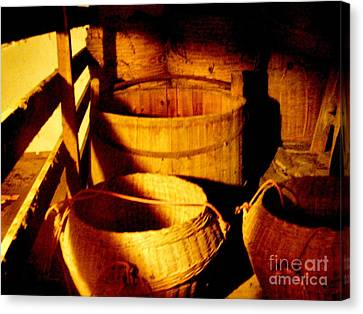 Old Chinese Attic 5 Canvas Print by Kathy Daxon