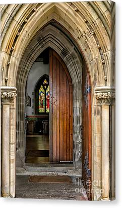 Old Church Entrance Canvas Print by Adrian Evans