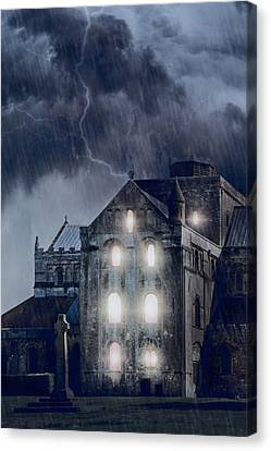 Thriller Canvas Print - Old Church by Joana Kruse