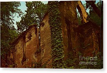 Old Church Ruins  Canvas Print by Ruth  Housley