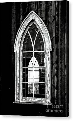 Canvas Print featuring the photograph Old Church Window by Brad Allen Fine Art