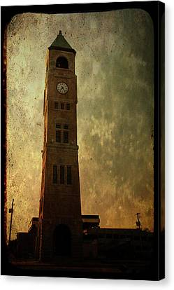 Old City Hall Clock Tower Canvas Print by Joel Witmeyer