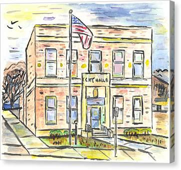 Old City Hall Canvas Print by Matt Gaudian