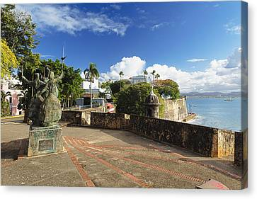Old City In The Caribbean Canvas Print