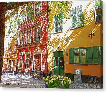 Old City Canvas Print by Thomas M Pikolin