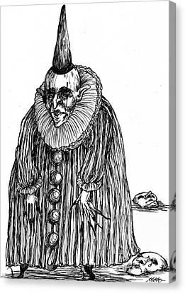 Old Clown Canvas Print