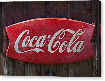 Old Coca-cola Sign On Barn Canvas Print by Garry Gay