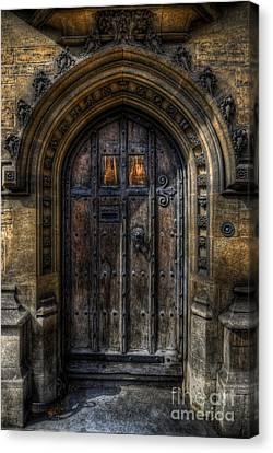 Old College Door - Oxford Canvas Print by Yhun Suarez