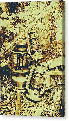 Old Colonial Oil Lanterns In Pile Canvas Print by Jorgo Photography - Wall Art Gallery