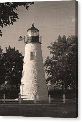 Old Concord Point Light Canvas Print by Gordon Beck