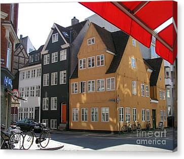 Canvas Print featuring the photograph Old Copenhagen by Erik Falkensteen