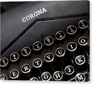 Old Corona Typewriter Print Canvas Print