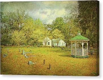 Canvas Print featuring the photograph Old Country Church by Lewis Mann