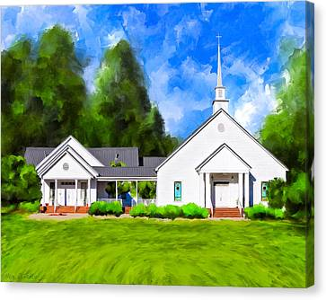 Old Country Church - Whitewater Baptist Canvas Print by Mark Tisdale
