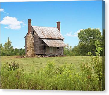 Old Country Farm House Canvas Print