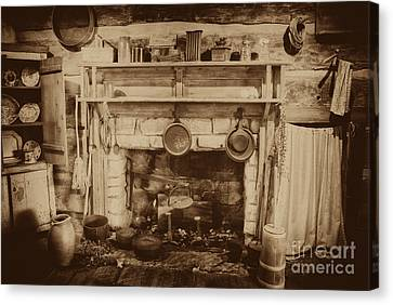 Old Country Kitchen Canvas Print by Paul W Faust -  Impressions of Light