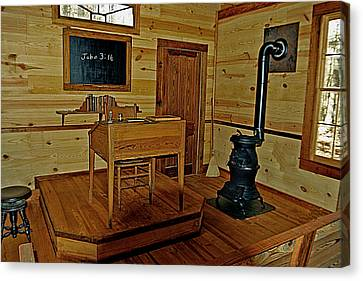 Old Country School Room Canvas Print by Ralph  Perdomo