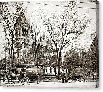 Old Courthouse Public Square Wilkes Barre Pa Late 1800s Canvas Print