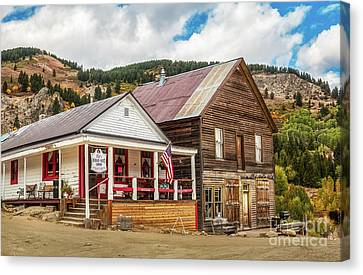 Miners Ghost Canvas Print - Old Courthouse by Robert Bales