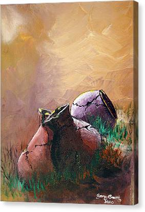 Old Cracked Pots-sold Canvas Print by Gary Smith
