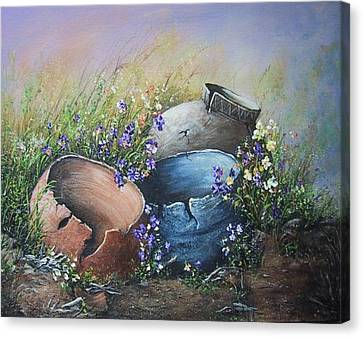Old Crocks Canvas Print by Theresa Jefferson