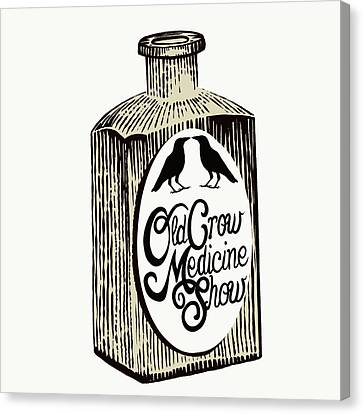 Old Crow Medicine Show Tonic Canvas Print by Little Bunny Sunshine